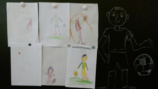Детские работы футболисты